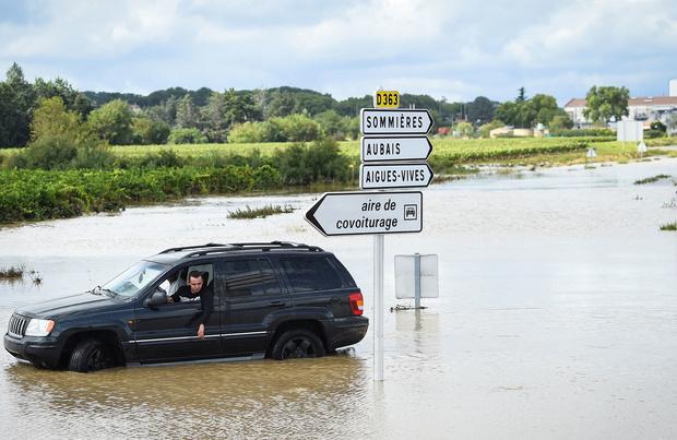 Pluies record dans le Gard, une personne portée disparue