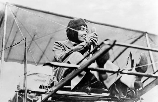 Hélène Dutrieu, la première aviatrice belge