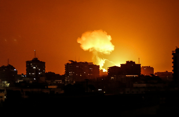 Frappes israéliennes sur Gaza, nouveaux tirs de roquettes vers Israël