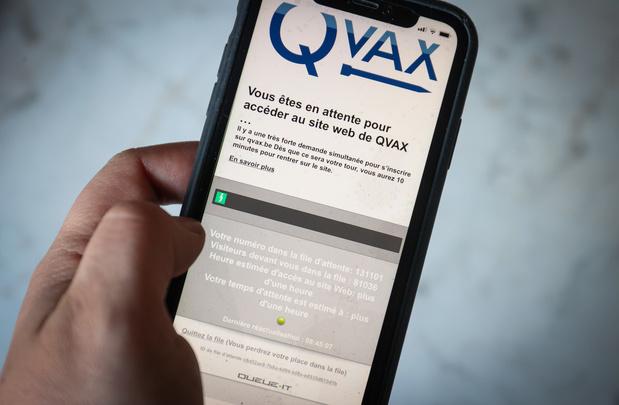 Un demi-million de Belges connecté à QVAX en un jour
