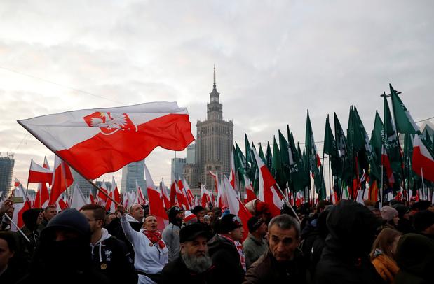 Pologne: grande Marche de l'indépendance à Varsovie organisée par l'extrême droite