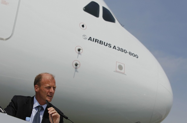 Le patron d'Airbus touchera jusqu'à 36,8 millions d'euros environ après son départ