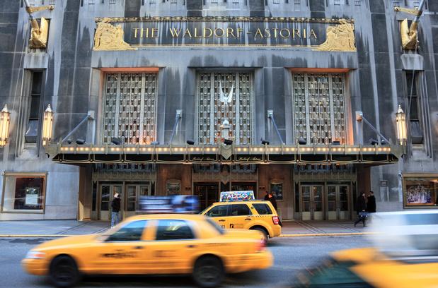 Interieur van het beroemde hotel Waldorf Astoria in New York staat te koop