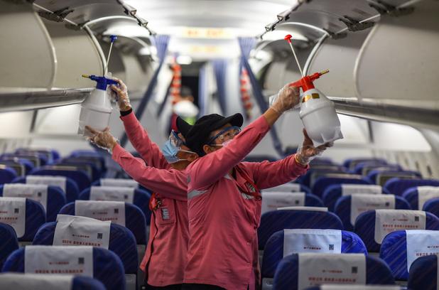 Studie: je kan besmet raken op het vliegtuig, ondanks voorzorgsmaatregelen