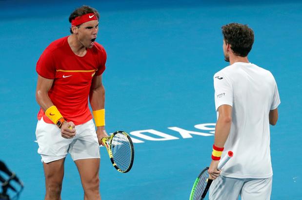 Au bout du suspense, la Belgique éliminée de l'ATP Cup par l'Espagne