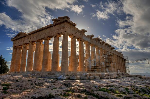 L'Acropole d'Athènes à nouveau ouverte au public après deux mois de confinement