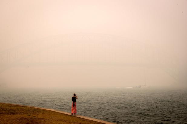 La qualité de l'air plus que dangereuse à Sydney étouffée par les fumées toxiques