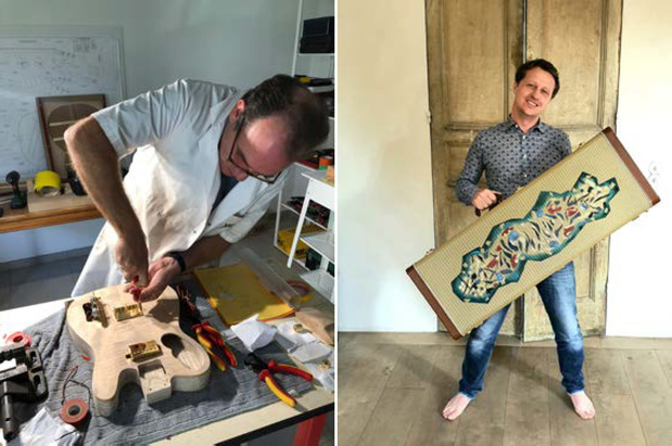 Artsen bouwen een gitaar voor het goede doel
