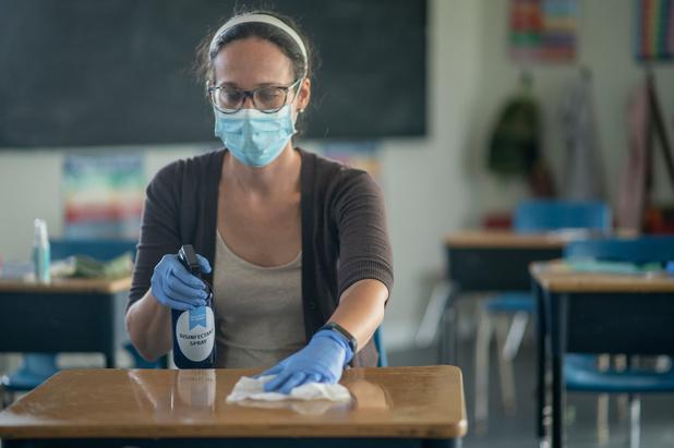 Covid: le coût du nettoyage des écoles belges