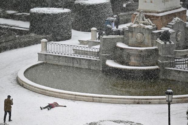 Une grande partie de l'Espagne recouverte d'un manteau blanc