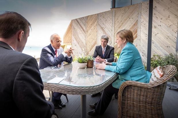 "G7: Angela Merkel salue ""un nouvel élan"" avec l'arrivée de Joe Biden"