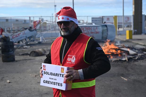 Un Noël aux couleurs de la grève en France