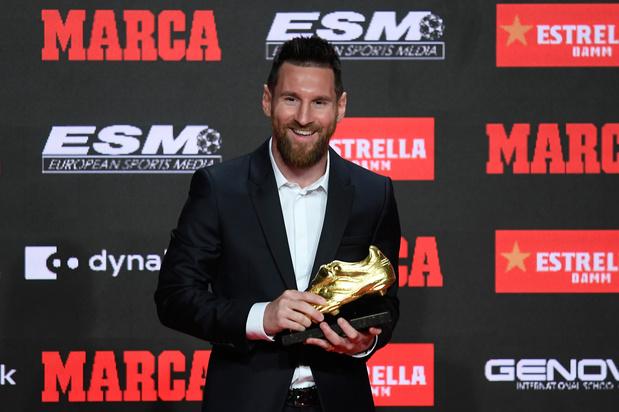 Lionel Messi wint zesde Europese gouden schoen