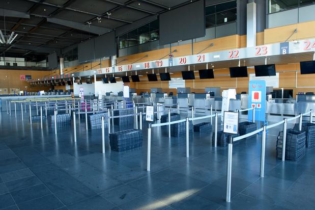 Près de 90% de vols en moins à Brussels Airport en avril