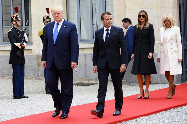 Trump reageert op 'beledigende uitspraken' van Macron over NAVO