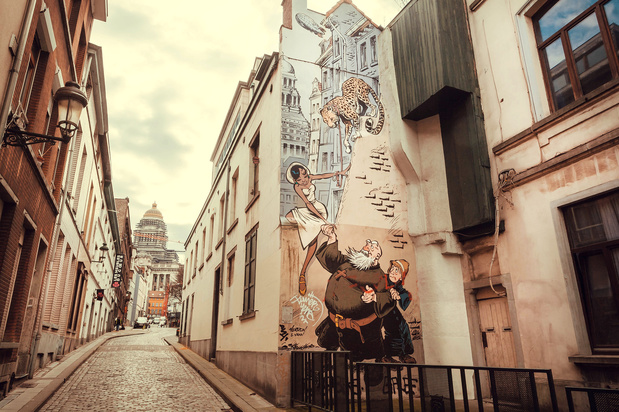 Steeds meer stripfiguren op Brusselse muren