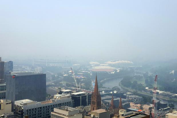 Luchtkwaliteit Melbourne slechtste ter wereld, tennisster bevangen door rook