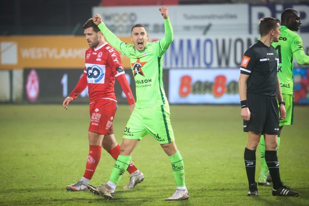 Zulte Waregem vijfde na 1-2 zege in Kortrijk