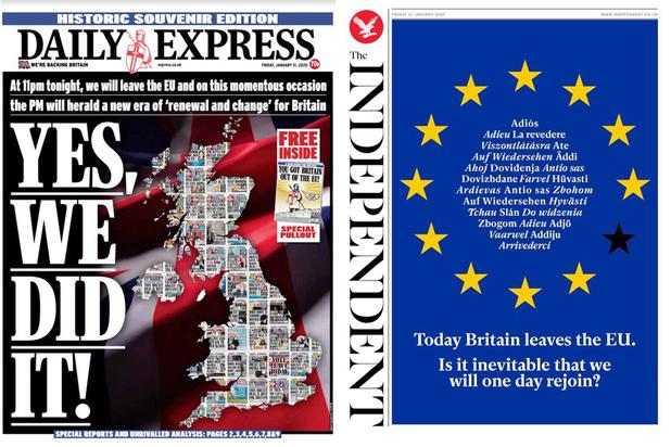 """""""On l'a fait"""", """"plus faibles et divisés"""", """"nouvelle aube"""": ce que pense la presse britannique du Brexit"""