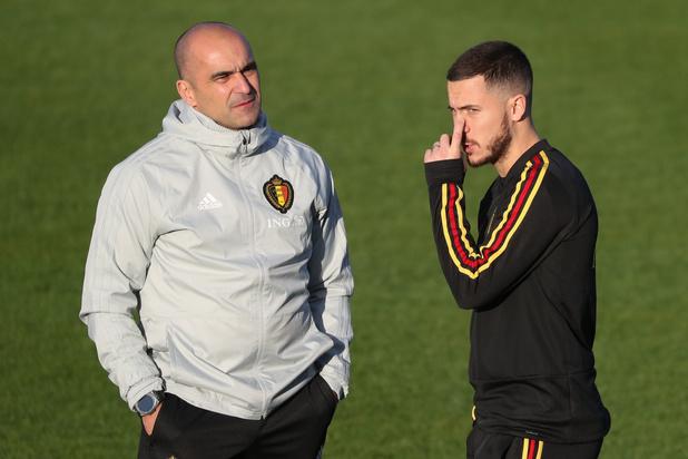 Roberto Martinez n'exclut pas un retour d'Eden Hazard