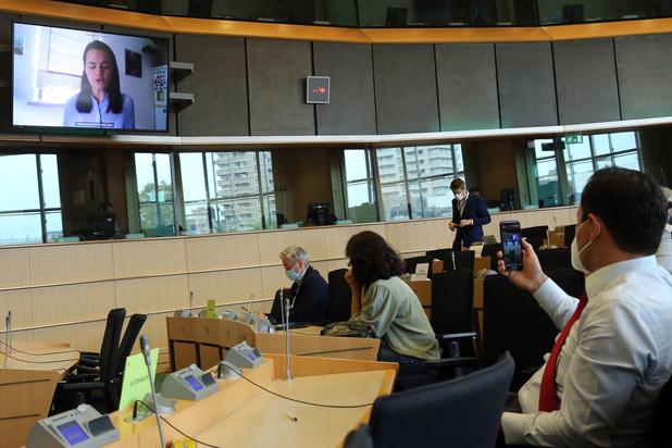 Tichanovskaja in Europees Parlement: 'Dit is geen revolutie voor of tegen Rusland'