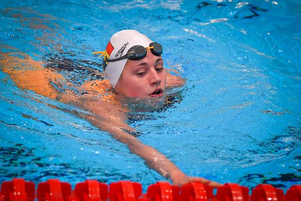 Nouveau record de Belgique du 400m libre en petit bassin par Valentine Dumont