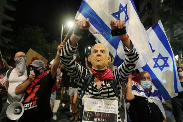Duizenden betogen in Israël opnieuw tegen premier Netanyahu