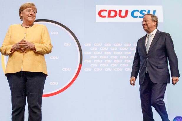 Duitse sociaaldemocraten even groot als partij Merkel in peiling