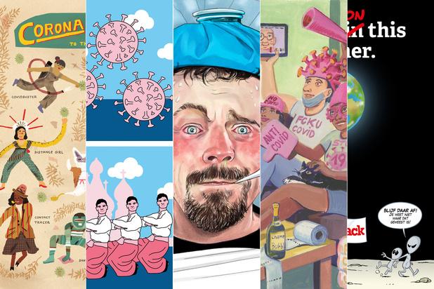 Fleur je werkplek op: download gratis een van deze coronacartoons