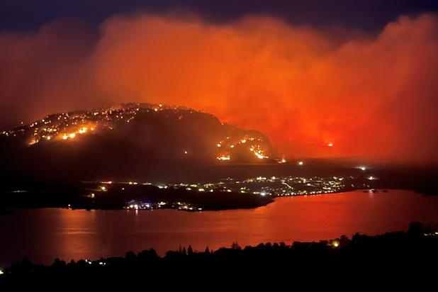 Noodtoestand in Canadese provincie British Columbia door aanhoudende bosbranden