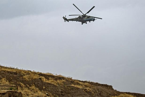 Un hélicoptère militaire russe abattu en Arménie, deux morts