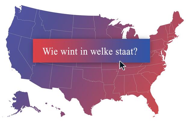Trump vs Biden: kijk op deze kaart wie waar wint
