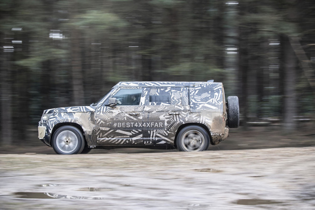 Nieuwe Land Rover Defender present in Goodwood