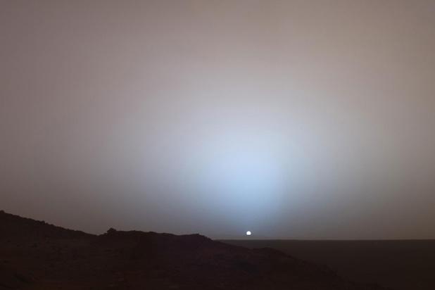 Mysterie van de dag: waarom is de zonsondergang op Mars blauw?