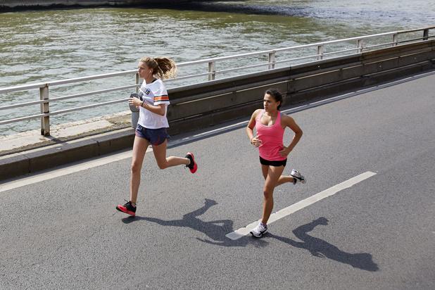 'Jog of fiets liever naast elkaar dan achter elkaar in coronatijden'