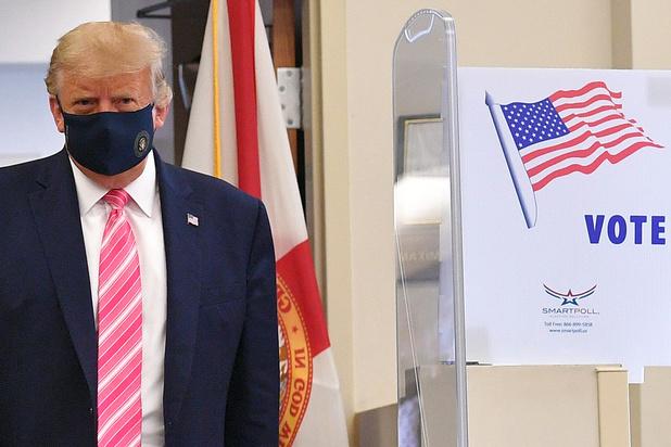 Donald Trump heeft vervroegd gestemd in Florida: 'Alles was perfect' (video)