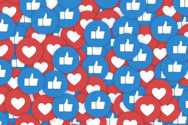 'Facebook test weghalen likes'