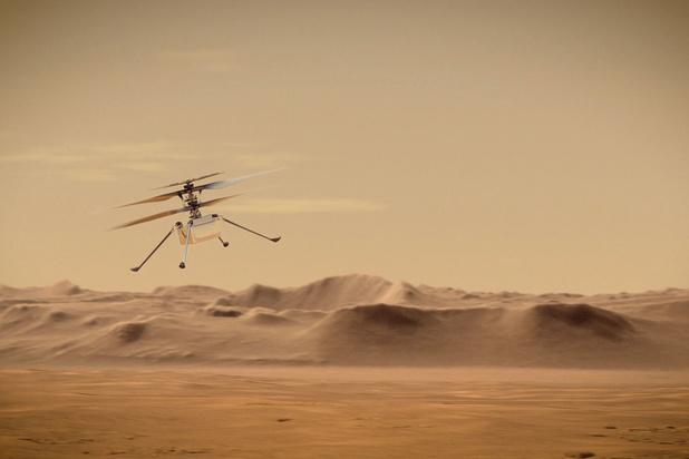 Helikopter Ingenuity maakt historische eerste vlucht op Mars