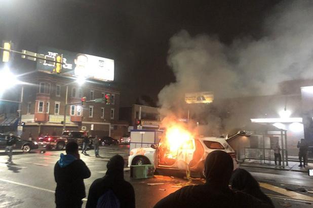 Rellen in Philadelphia na doodschieten zwarte man