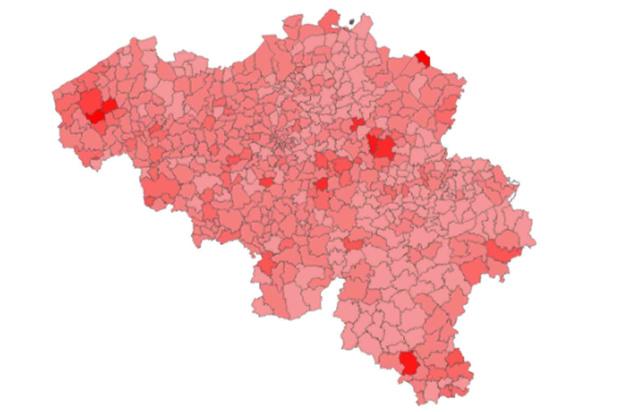 Le nombre de cas remonte à Bruxelles: voici la situation dans votre commune (carte interactive)