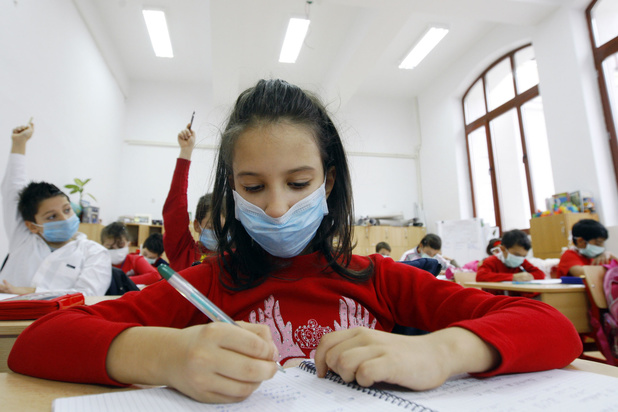 Geen mondmasker in 5e en 6e leerjaar bij start van dit schooljaar
