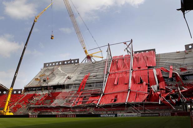 'Al bij de bouw was het stadion van AZ niet volledig veilig'