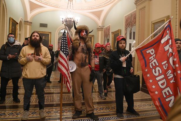 Drapeaux et costumes : décryptage des symboles aperçus lors de l'invasion du capitole aux USA