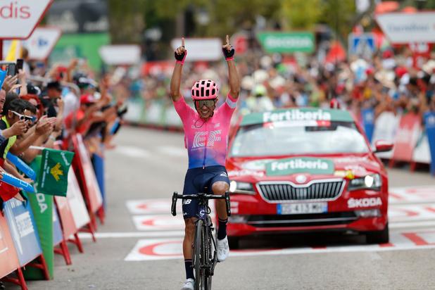 Colombiaan Higuita heerst in lastige Vuelta-bergrit