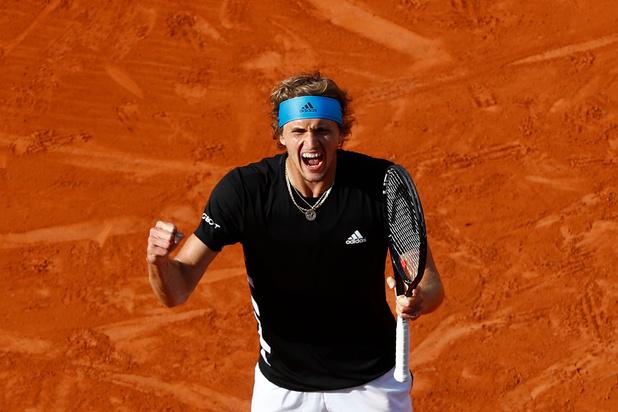 Zverev écarte Fognini et rejoint Djokovic en quarts de finale à Roland-Garros