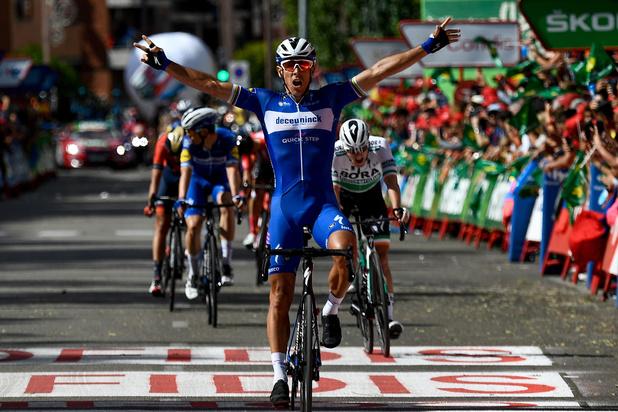 Gilbert wint doldwaze Vuelta-rit