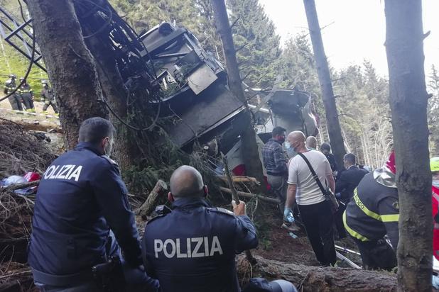 14 doden bij ongeval met kabelbaan in Italië
