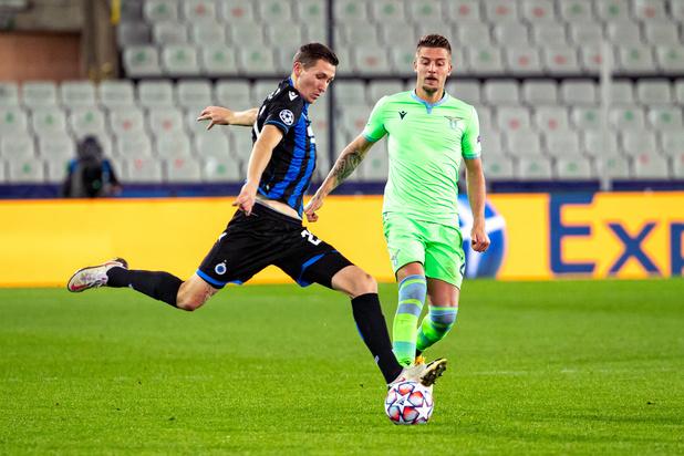 Le Club Bruges et la Lazio dos à dos (1-1) conservent la tête du classement du groupe F