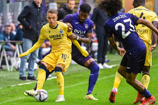 Topper tussen Anderlecht en Club Brugge levert geen winnaar op