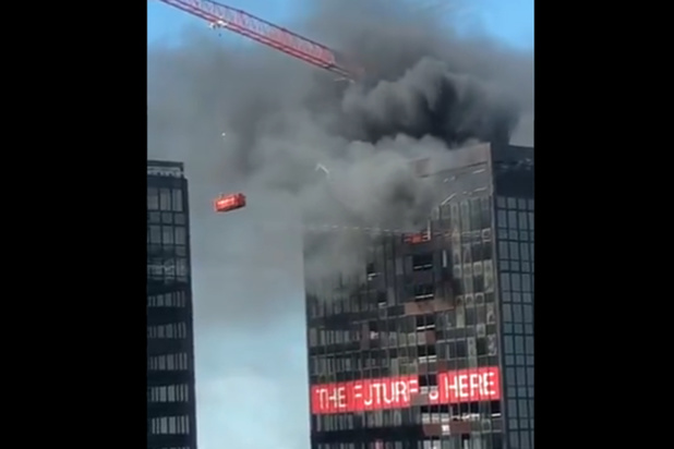 L'incendie de la tour WTC à Bruxelles a été maîtrisé